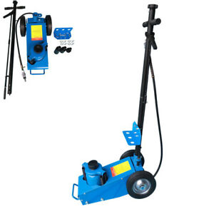 22 Ton Air Hydraulic Floor Jack Work Shop Automotive Repair Lift Tool Blue