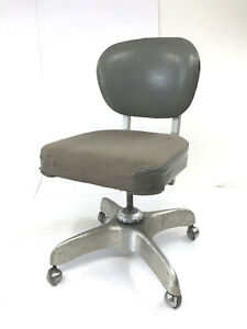 Vintage Industrial Office Chair Swivel Aluminum Mid Century Modern Desk Emeco 60