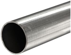 316 Stainless Steel Round Tube Od 2 Wall 0 065 Length 36 Welded