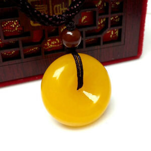 Nephrite Boulder Rough Natural Form Type Icy Yellow Jade Pendant