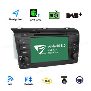 For Mazda 3 2004 2005 2006 2007 2008 2009 7 Car Dvd Stereo Gps Android 8 0 4g L