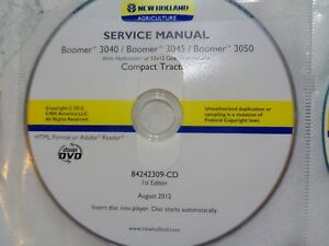 New Holland Boomer 3040 3045 3050 Tractor Service Repair Manual Cd Oem