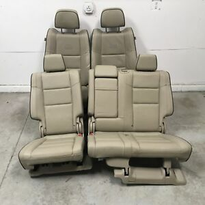 2016 Jeep Grand Cherokee Overland Seats Front Rear Left Right Tan Leather Oem