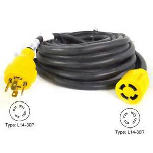 Superior Electric Rva1556 Generator Extension Cord 30 Amp 4 Pole Sjtw 10awg 4