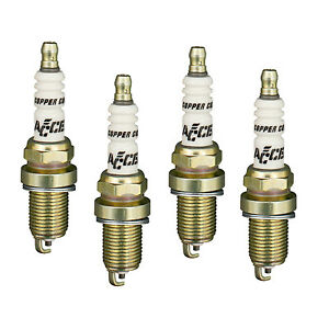 Accel 0414s 4 Spark Plugs Copper Core Shorty Gasket Seat 3 4 Reach 4 Pack