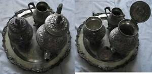 Victorian Antique Tea Coffee Set Old German 6 Pc Set Melhior