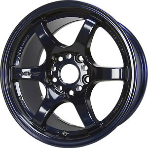 Gram Lights 57dr 15x8 5x114 3 5x4 5 35mm Blue Wheels Rims Wgie35ed