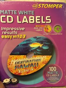 Cd Stomper White Cd Labels Matte Partial Pack 45 Sheets
