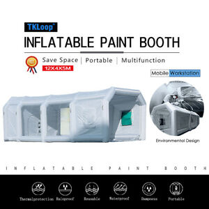 39lx16wx13h Mobile Inflatable Paint Spray Booth Tent Portable Car Workstation