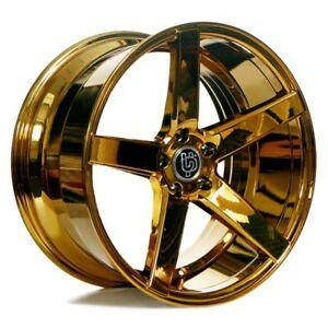 Fit Challenger 20 Staggered Ac Wheels Ac607 Platinum Gold Popular Rims Fit