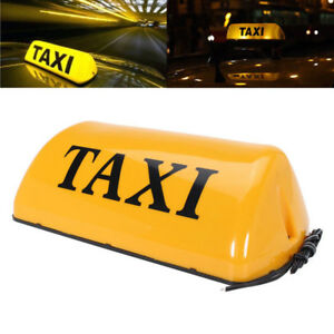 Taxi Sign Cab Roof Top Topper Car Magnetic Sign Lamp 12v Led Light Waterproof Hu