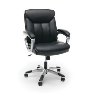 Essentials By Ofm Ess 6020 Executive Leather Swivel Comfy Office Chair Black