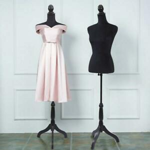 Half length Female Mannequin Torso Dress Clothing Display W Black Tripod Stand