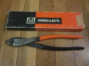 Nos Thomas Betts Sta kon Wire Crimping Pliers Model Wt111 m Rare New Old Stock