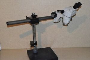Nikon Smz 1 Microscope Head With Heavy Duty Base And Stand 3c