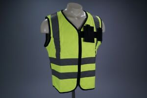 Cool Medics Large Safety Yellow Contractors Cooling Vest W Reflective L k