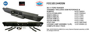 Cpp Gray Nsf Fo1101144 Rear Bumper Assembly For 93 11 Ford Ranger