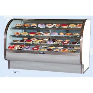Curved Glass Refrigerated Bakery Display Case Slightly Used
