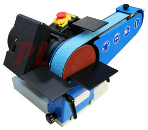 Portable Hd 2 X 40 Belt Grinder 6 Disc Sander 2800rpm 1 Phase 0 75kw 110 Volt