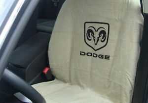 Seat Armour Sa100dodt 1 Pc Tan Slip On Seat Cover With Dodge Logo