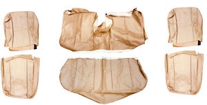Volvo 240 Sedan Beige Leather Upgrade Seat Cover Upholstery Complete Set 1986 93
