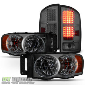 Smoke 2002 2005 Dodge Ram 1500 2500 3500 Headlights Led Tail Lights Brake Lamps
