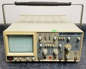 Bk Precision 2160 60 Mhz Oscilloscope b as Is For Repair