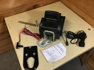 3500 Pound 12 Volt Winch 36 Cable Rolling 10 500lbs Portable