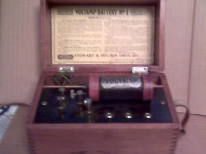 Antique C 1899 Voltamp Battery No 1 Medical Quackery Device Near Mint