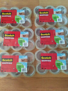 New 36x Rolls Scotch Shipping packaging Tape 1 88in X 38 2yd 48mmx35m 229yd 210m