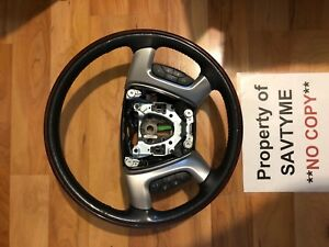 2007 2013 Cadillac Escalade Heated Steering Wheel Controls Wood Grain
