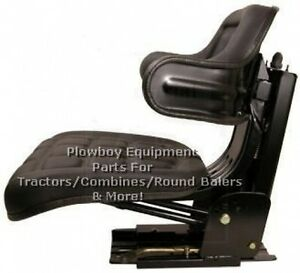 Black Universal Seat For Hesston Fiat Leyland Long Tractor