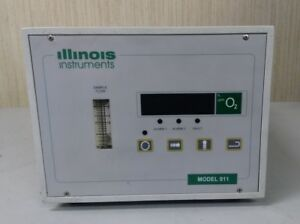 Illinois Instuments Model 911 Oxygen Analyzer With Turbopurge 900 021 Attachment