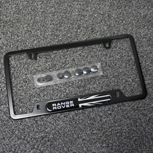 For Range Rover Brand New License Frame Plate Cover Black