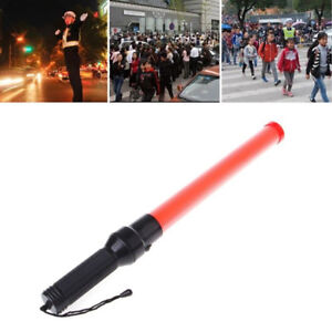 Premium Led Traffic Baton Light Up Safety Wand Traffic Control Signs Lights New