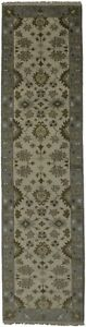 Gorgeous Hand Knotted Runner Oushak Chobi Indian Area Rug Oriental Carpet 3x10
