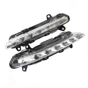 Pair Led Drl Fog Light Lamp For Mercedes S450 S550 S600 S63 Cls Glk R Class