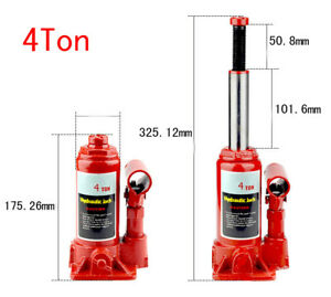 4 Ton Auto Car Tire Change Underbed Hydraulic Bottle Jack Lift Tool Portable Red