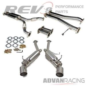 For Nissan 350z Infiniti G35 Vq35 Rev9 Cb 006 Dual Cat Back Exhaust Stainless