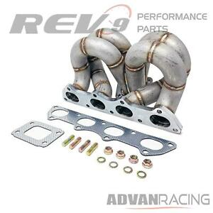Rev9 Hp Series Ram Horn T3 Turbo Manifold For Honda B16 B18 Ac Ps Compatible