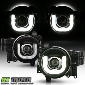 For 2007 2014 Toyota Fj Cruiser 3d Drl Led Tube Projector Headlights Left Right