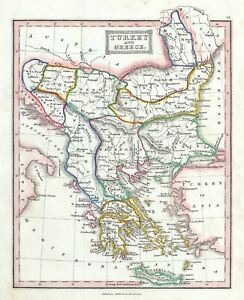 1845 Ewing Map Of Greece And The Balkans