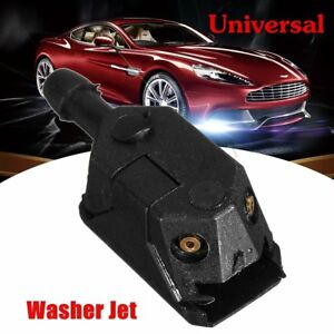 Universal Black Car Blade Arm Washer Wiper Water Spray Jet Nozzle 9mm 4mm