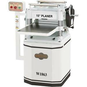 Shop Fox 15 Planer With Spiral Cutterhead W1863 Free Shipping