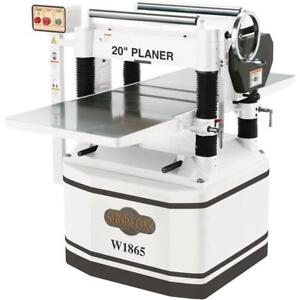 Shop Fox 20 Planer With Spiral Cutterhead 5hp Free Shipping