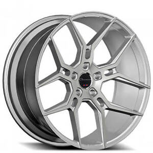 20 Staggered Giovanna Wheels Haleb Silver Machined Rims Fs