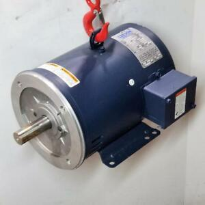 Leeson 7 5 Hp 3600 Rpm Odp 230 460 Volt 184tc Footed F2 3 Phase Motor 132110 00
