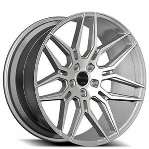 20 Staggered Giovanna Wheels Bogota Silver Machined Rims Fs