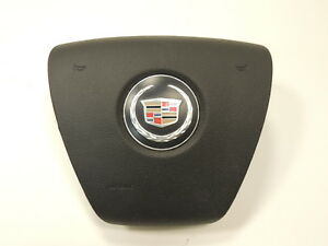 2007 08 09 10 Cadillac Escalade Driver Steering Wheel Airbag Black Oem