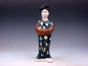 Vintage Sancai Pottery Hand Crafted Ancient Chinese Palace Lady 01051902